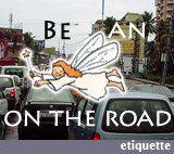 Be an angel on the road